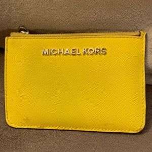 Michael Kors Sunflower Coin Pouch with ID